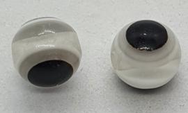 Boze oog kralen 8mm Grijs