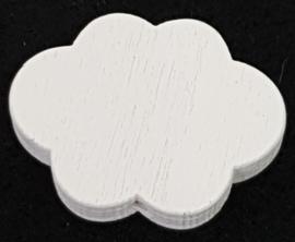 Wolken Kraal Wit 17x22mm