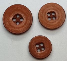 Bruine Knoop 15, 18 & 20mm