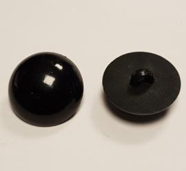 Zwarte Half Ronde Ogen Knoopjes 24,5mm