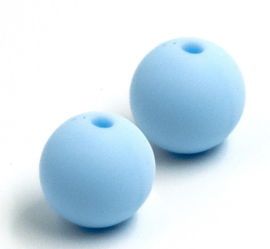 Pastel Blauwe Silicone Kralen 12mm (5 Stuks)