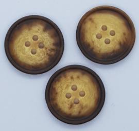 Donker Bruin & Creme Knoop 23 mm