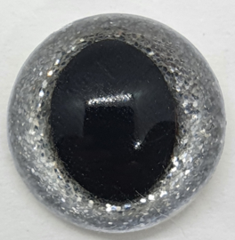 Zilveren Sparkle Veiligheids Katten Oogjes Ogen 12mm