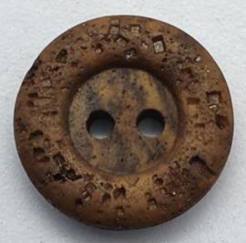 Donker Bruine Knoop 18 mm