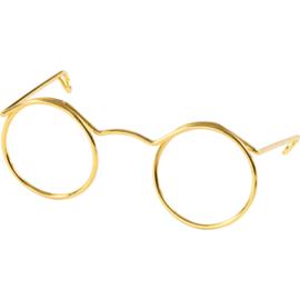 Bril voor Knuffels Goud 5cm