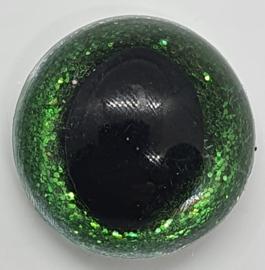Groene Sparkle Veiligheids Katten Oogjes Ogen 15mm