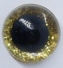 Gouden Sparkle Glitter Veiligheids Oogjes Ogen 16mm