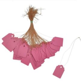 23 Luxe Roze Prijskaartjes 3,6x2,5 cm