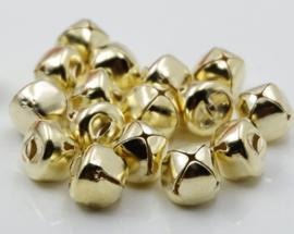 Goudkleurige Belletjes Bel 15mm (5 stuks)