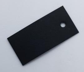 50 Zwarte Prijskaartjes 40x20 mm