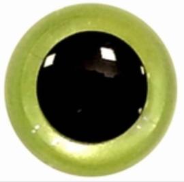 Veiligheidsogen Parel Groen 15mm (2 stuks)