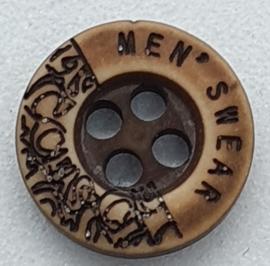 Ronde Bruine Knopen met motief 10mm