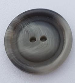 Grijs Gemeleerde Knoop 23 mm