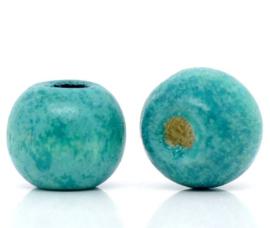 Ronde Aqua Blauwe Kralen 10 mm (20 stuks)