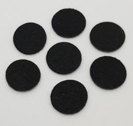 100 Zwarte Vilten Rondjes 15mm