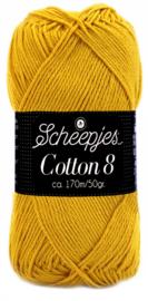 Scheepjes Cotton 8 nr 722 Oker Geel