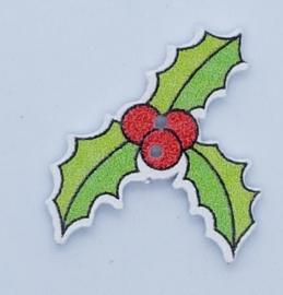 Kerst Knoop Hulst met Bessen