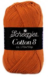 Scheepjes Cotton 8 nr 671 Roestbruin
