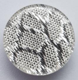 Zilverkleurige Glitter Knopen 18mm