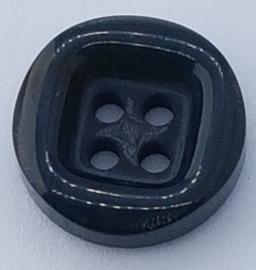 Donker Zwart Grijze Knoop 18mm