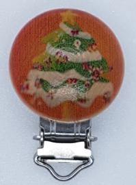 Houten Speenclip Kerst Motief Kerstboom