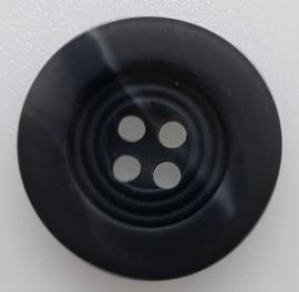 Zwarte Knoop met Witte Streep 20mm