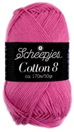 Scheepjes Cotton 8 nr 653 Donker Roze