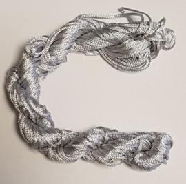 Nylon Koord 1mm - Zilver Grijs - 22 Meter