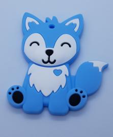 Siliconen Bijtring - Vos Blauw