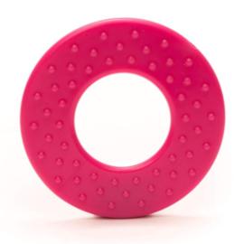Durable Bijtring - Rond met noppen  - Pink 786