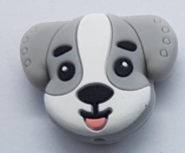 Siliconen Kraal Hond Grijs