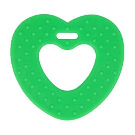 Bijtring - Hart met noppen - Groen