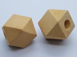 Blank Houten Hexagon Kraal 25mm