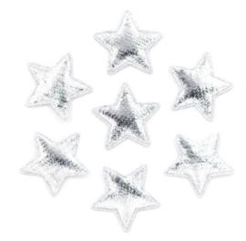 Zilver Kleurige Glitter Sterren 25mm (10 Stuks)
