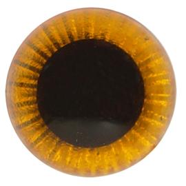 Veiligheids Uilen Ogen Oranje 10mm (2 stuks)
