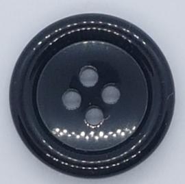 Zwarte Knoop 20mm
