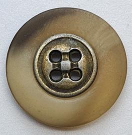 Knoop met Zilverkleurige binnenkant 22mm