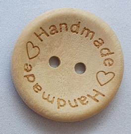Blank Houten Handmade Knoop 25mm
