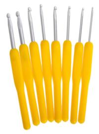 8 stuks Gele Haaknaalden
