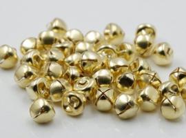 Goudkleurige Belletjes Bel 10mm (5 stuks)