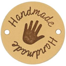 Durable - Leren Label Rond Handmade (2 stuks)