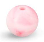 Roze Gemeleerde Silicone Kraal Kralen 12mm (5 Stuks)