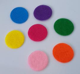 Mix van 100 Gekleurde Vilten Rondjes 20mm