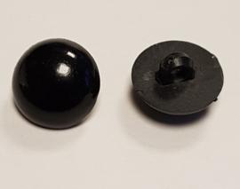 Zwarte Half Ronde Ogen Knoopjes 15mm