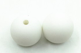 Witte Silicone Kralen 12mm (5 Stuks)