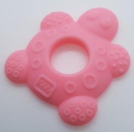Siliconen Bijtring - Schildpad Roze
