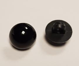 Zwarte Half Ronde Ogen Knoopjes 10mm