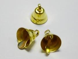 Goud Kleurige Belletjes Bel 11mm (5 stuks)