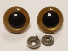 Gouden Ogen 23mm (2 stuks)