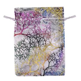 9x7 cm Organza Zakjes met Bomen